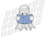 Halloween Reading Ghost Clipart
