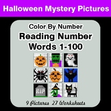 Halloween: Reading Number Words 1-100 - Color By Number -