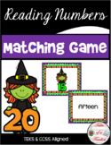 Halloween Reading Numbers Matching Game