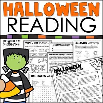 Halloween Reading Packet -Informational Text, Homophones, Poetry