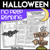 Halloween Reading Packet - Halloween Reading Comprehension Passage & Activities