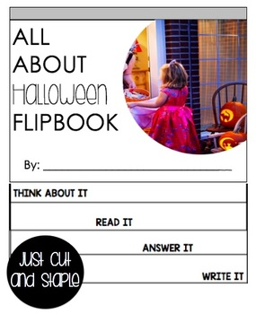 Halloween Reading Passage and Flipbook