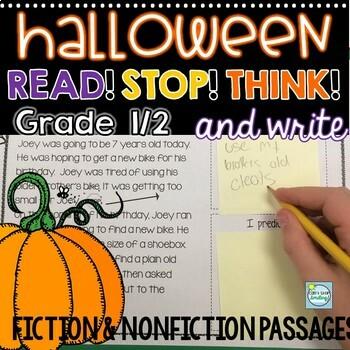 Halloween Reading Passages 1st/2nd Grade ~ Halloween Activities 1st Grade & 2nd