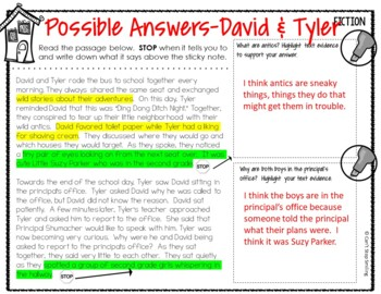 Halloween Passages ~ Stop Think Write ~ Halloween Reading Activities 3rd  Grade