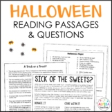 Halloween Reading Passages  (SOL 4.4, 4.5, 4.6)