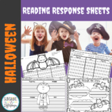 Halloween Reading Response Comprehension Worksheets Grades 1-2 Common Core