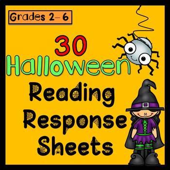 Halloween Reading Response Sheets (Any book x30)