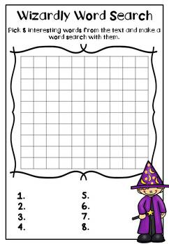 #2dollarhalloween Halloween Reading Response Sheets (Any book x30)