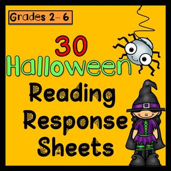 Halloween Reading Response Sheets (Any book x30)