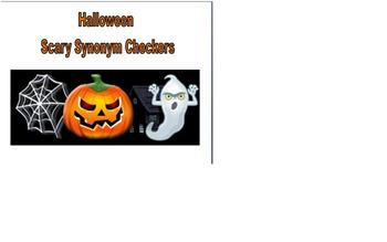 Halloween Reading Scary Synonym Checkers