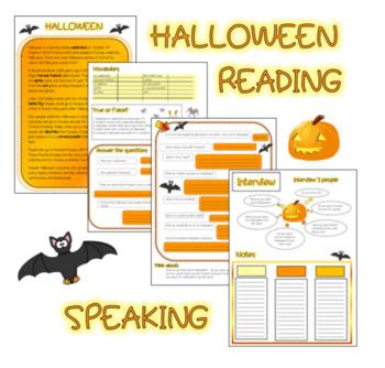 Halloween Reading + Speaking (ESL)