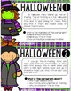 Halloween Reading Task Cards