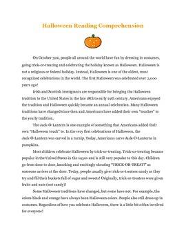Halloween Reading Unit