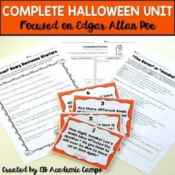 Halloween Reading & Writing Activities Bundle for Middle School