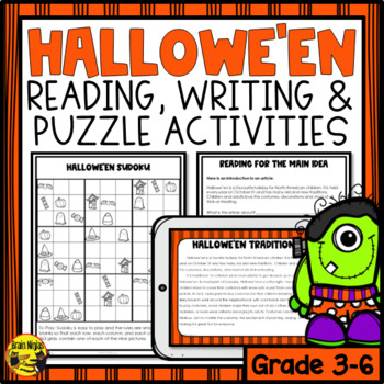 Halloween Reading & Writing Activities