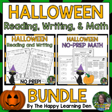 Halloween Reading, Writing, and Math Activities and Worksh