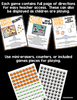 Halloween Reading and Literacy Center Games