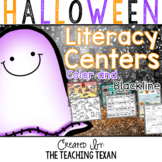 Kindergarten Halloween Reading and Literacy Center Games