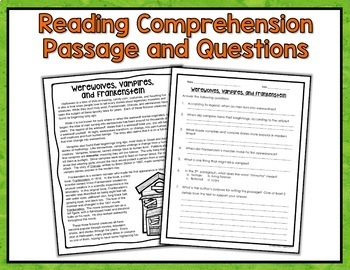 Halloween Reading and Math Bundle - Halloween Activities and Worksheets