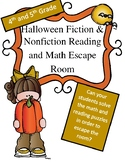 Halloween Reading and Math Escape Room Game 4th and 5th Grade