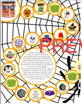 First Grade Halloween Math Mixed Review Game Pack