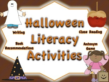 Halloween Reading and Writing Activities