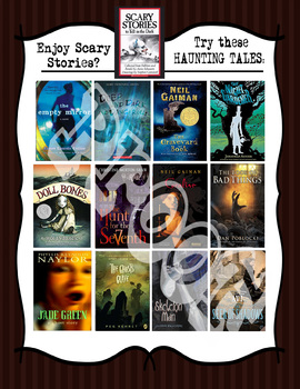 Halloween Reads!!  Book Recommendations Poster