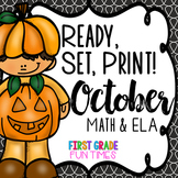 Ready, Set, Print Halloween Activities (Halloween Math Halloween Writing)