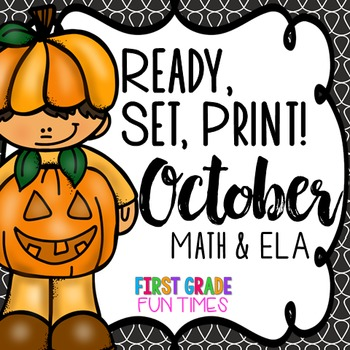 Fall Ready, Set, Print Halloween Activities (Halloween Math Halloween Writing)
