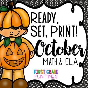 Fall Ready, Set, Print Halloween Activities (Halloween Math Halloween Writing)