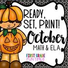 Fall Ready, Set, Print Halloween Activities Fall Activities ELA and Math