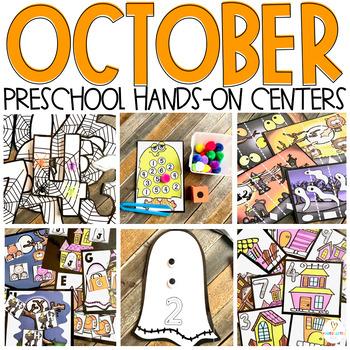 Halloween Ready to Go Centers for Preschool