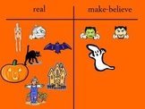 Halloween - Real or Make Believe Sort T-Chart for powerpoint