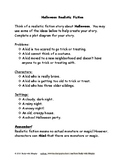 Halloween Realistic Fiction Writing Prompt