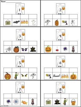 Rebus One-Step Math Equations-Halloween theme