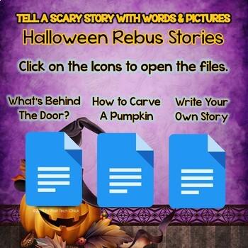 Halloween Rebus Stories Word Processing Practice for Google Docs