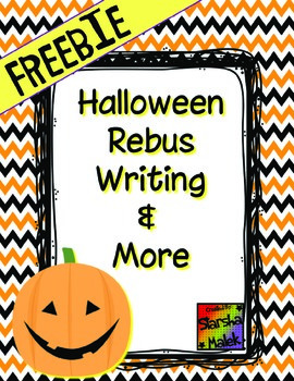 Halloween Rebus Writing Freebie (S.Malek)
