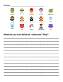 Halloween Rebus Writing activity