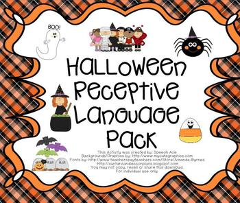 Halloween Receptive Language Pack