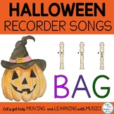 Halloween Recorder Songs: Teaching Pages, Presentation, No