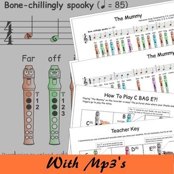 Halloween Recorder Songs - The Mummy - Digital Print