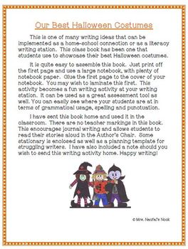 Recount Writing - Our Best Halloween Costumes