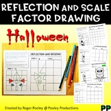 Halloween Reflection and Scale Factor Drawing, 36 pgs, teacher notes, answers