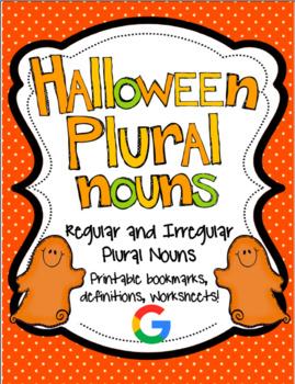 Halloween Regular and Irregular Plural Noun Printables