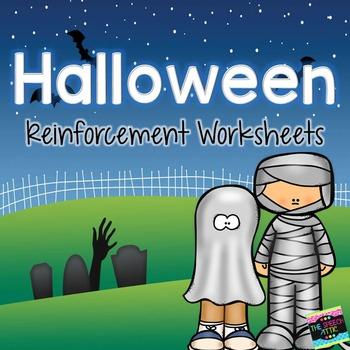 Halloween Reinforcement Worksheets