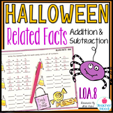 Halloween Related Facts - Addition and Subtraction Fact Families 1OA8