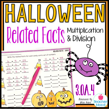 Halloween Related Facts - Multiplication and Division Fact Families 3OA4