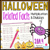 Halloween Related Facts - Multiplication and Division Fact