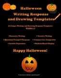 Halloween Reponse Templates Drawing Writing Bulletin Board Stationary
