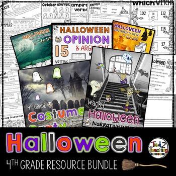 Halloween Math and Literacy Resource Bundle - 4th Grade